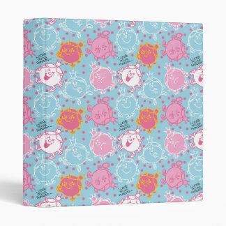 Little Miss Princess | Pretty Pink & Blue Pattern 3 Ring Binder