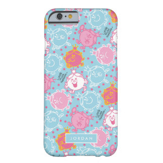 Little Miss Princess | Pretty Pink & Blue Pattern Barely There iPhone 6 Case