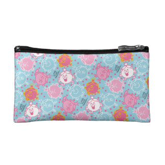 Little Miss Princess | Pretty Pink & Blue Pattern Cosmetic Bag
