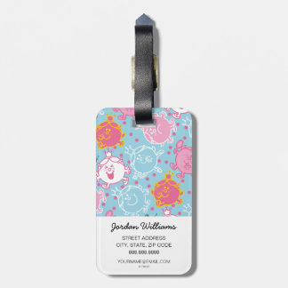 Little Miss Princess | Pretty Pink & Blue Pattern Luggage Tag