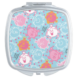 Little Miss Princess | Pretty Pink & Blue Pattern Makeup Mirror