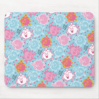 Little Miss Princess | Pretty Pink & Blue Pattern Mouse Pad