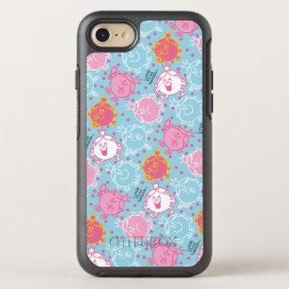 Little Miss Princess   Pretty Pink & Blue Pattern OtterBox Symmetry iPhone 7 Case