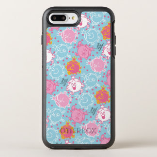 Little Miss Princess | Pretty Pink & Blue Pattern OtterBox Symmetry iPhone 8 Plus/7 Plus Case