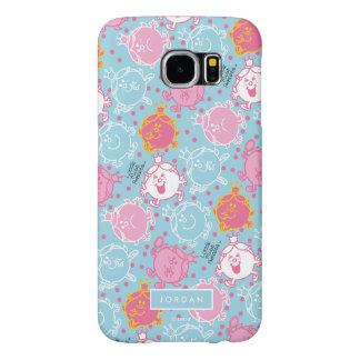 Little Miss Princess | Pretty Pink & Blue Pattern Samsung Galaxy S6 Cases