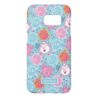 Little Miss Princess | Pretty Pink & Blue Pattern Samsung Galaxy S7 Case