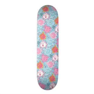 Little Miss Princess | Pretty Pink & Blue Pattern Skate Board Decks