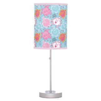 Little Miss Princess | Pretty Pink & Blue Pattern Table Lamp