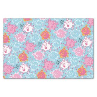 Little Miss Princess   Pretty Pink & Blue Pattern Tissue Paper