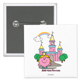 Little Miss Princess   Royal Castle 2 Inch Square Button
