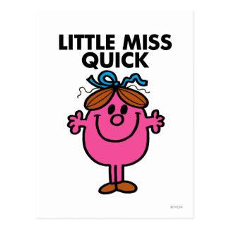 Little Miss Quick | Black Lettering Postcard