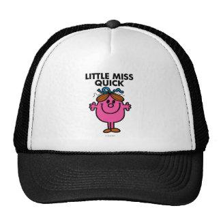 Little Miss Quick   Black Lettering Trucker Hat