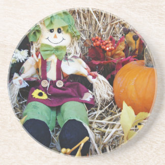 Little Miss Scarecrow Beverage Coasters