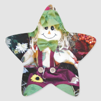 Little Miss Scarecrow Star Sticker