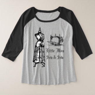 Little Miss Sew & Sew Sewing Machine t-shirt