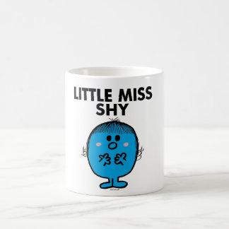 Little Miss Shy | Black Lettering Basic White Mug