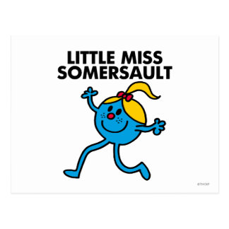 Little Miss Somersault Walking Tall Postcard