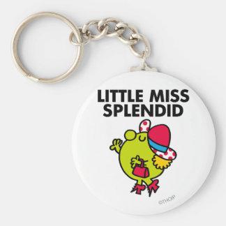 Little Miss Splendid | Black Lettering Basic Round Button Keychain