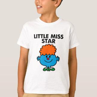 Little Miss Star   Black Lettering T-Shirt