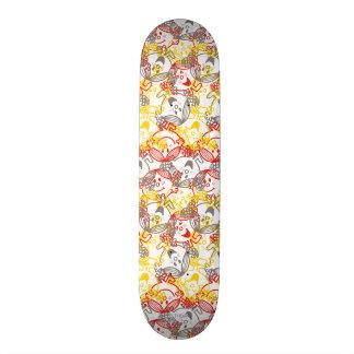 Little Miss Sunshine | All Smiles Pattern Custom Skateboard