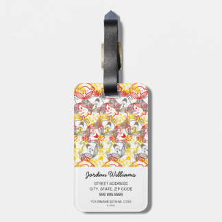 Little Miss Sunshine | All Smiles Pattern Luggage Tag