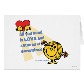 Little Miss Sunshine   All You Need Is… Card