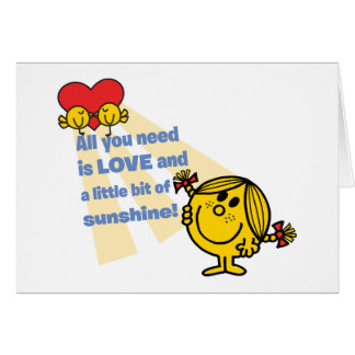 Little Miss Sunshine | All You Need is Love Card