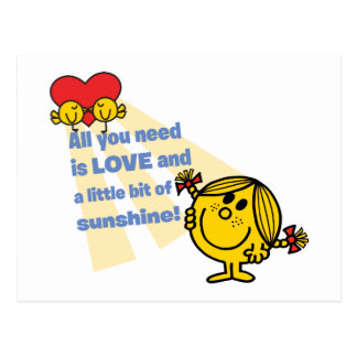 Little Miss Sunshine | All You Need is Love Postcard