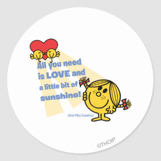 Little Miss Sunshine | All You Need Is… Round Sticker
