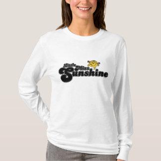 Little Miss Sunshine | Black Bubble Lettering T-Shirt