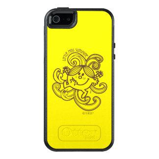 Little Miss Sunshine | Black & White Swirls OtterBox iPhone 5/5s/SE Case