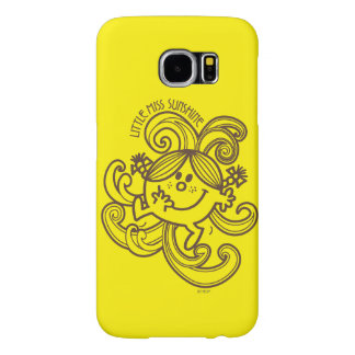 Little Miss Sunshine | Black & White Swirls Samsung Galaxy S6 Cases