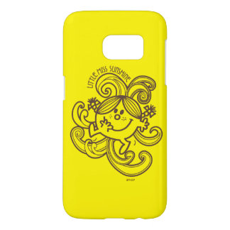 Little Miss Sunshine | Black & White Swirls Samsung Galaxy S7 Case