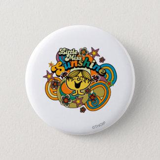 Little Miss Sunshine | Floral Delight 2 Inch Round Button
