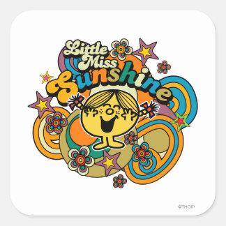 Little Miss Sunshine | Floral Delight Square Sticker