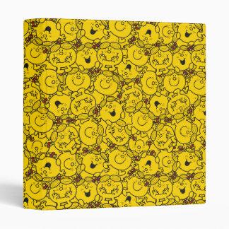 Little Miss Sunshine | Fun Yellow Smiles Pattern Binder
