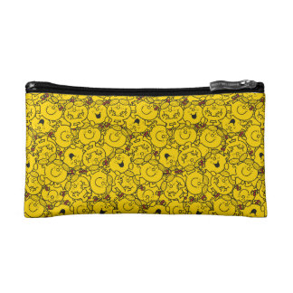 Little Miss Sunshine | Fun Yellow Smiles Pattern Cosmetic Bag