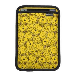 Little Miss Sunshine | Fun Yellow Smiles Pattern iPad Mini Sleeve