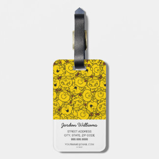 Little Miss Sunshine | Fun Yellow Smiles Pattern Luggage Tag