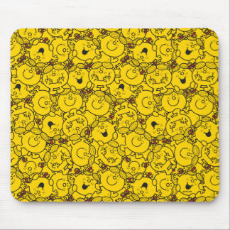 Little Miss Sunshine | Fun Yellow Smiles Pattern Mouse Pad