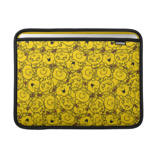 Little Miss Sunshine | Fun Yellow Smiles Pattern Sleeve For MacBook Air