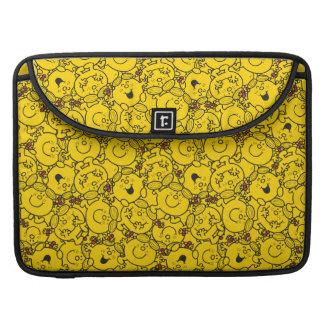 Little Miss Sunshine | Fun Yellow Smiles Pattern Sleeve For MacBooks
