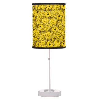 Little Miss Sunshine | Fun Yellow Smiles Pattern Table Lamp
