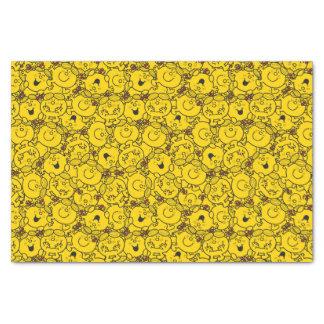 Little Miss Sunshine   Fun Yellow Smiles Pattern Tissue Paper