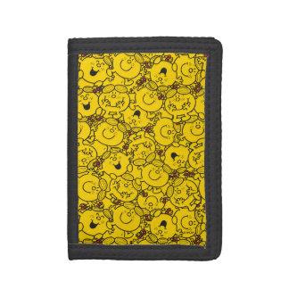 Little Miss Sunshine   Fun Yellow Smiles Pattern Tri-fold Wallets