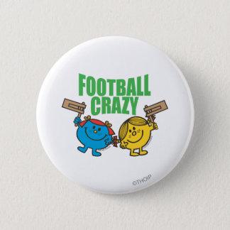 Little Miss Sunshine & Giggles Football Crazy 2 Inch Round Button