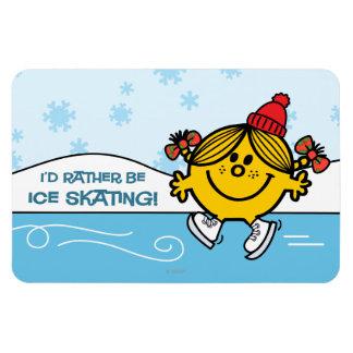 Little Miss Sunshine Ice Skating Magnet