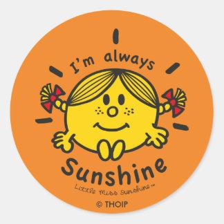 Little Miss Sunshine | I'm Always Sunshine Classic Round Sticker