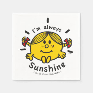 Little Miss Sunshine   I'm Always Sunshine Paper Napkin