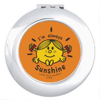 Little Miss Sunshine | I'm Always Sunshine Travel Mirror